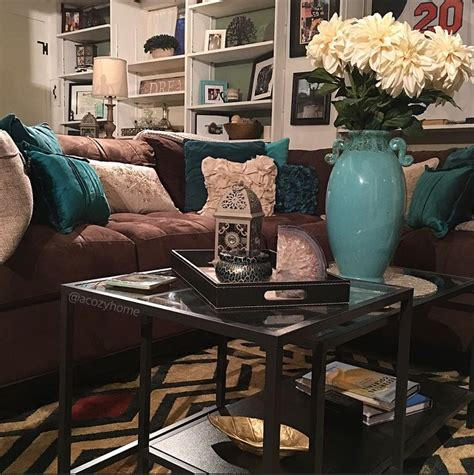 turquoise la royal blue chocolate brown chic living chocolate and green living room ideas blue next brown teal
