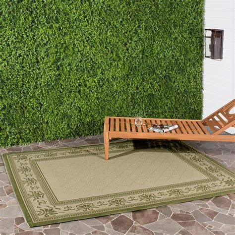 safavieh cy6126 39 courtyard indoor outdoor area rug gold lowe s canada safavieh courtyard olive 6 ft 7 in x 9 ft 6 in indoor outdoor area rug cy0901 1e01 6