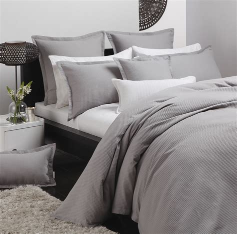 Waffle Weave Duvet Cover Best Price Linen Ascot Pewter By Logan Amp Mason Quilt