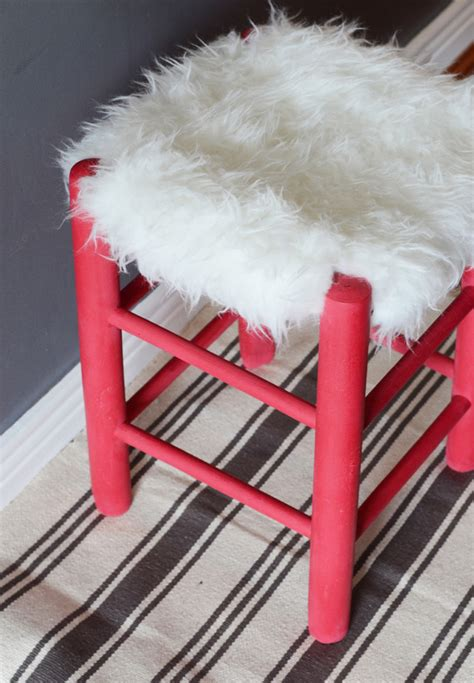 simple diy faux fur stool from china