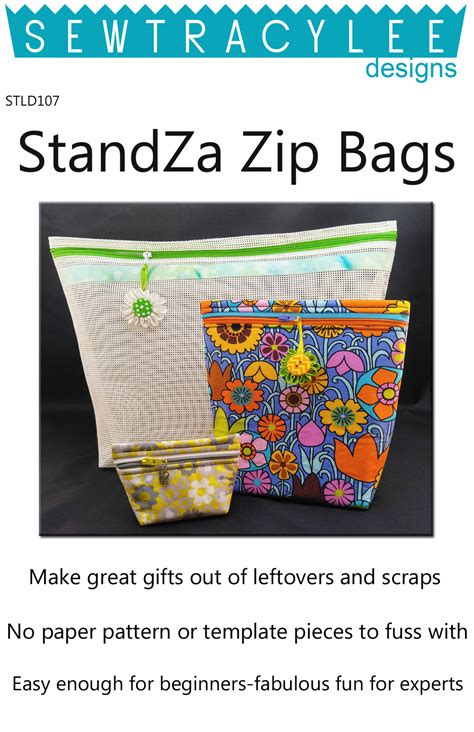zip code pattern html print standza zip bags sewing pattern from sew tracylee