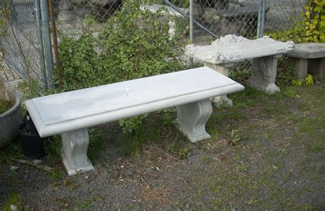 Outdoor Concrete Table And Benches garden tables and benches concrete decorative bench portland garden decor