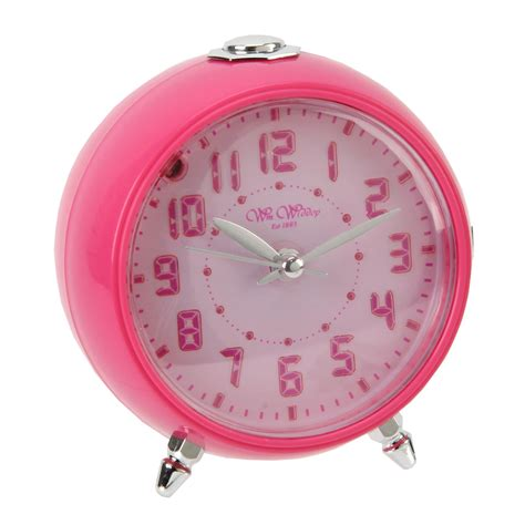 blue or pink boys bedroom beep alarm clock silent sweep no ticking snooze ebay