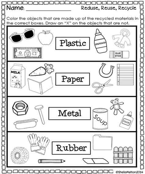 Recycle Worksheets by Students Will Color The Objects Created From The Recycling