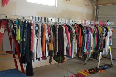 clothes for sale how to hang clothes for garage sale ladders need this for this weekend great