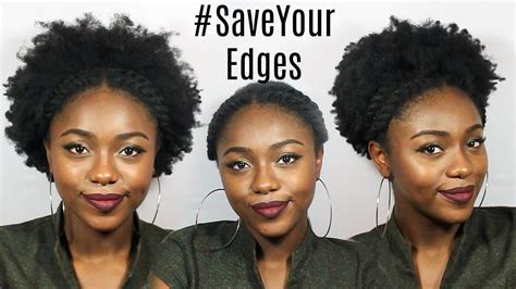 hairstyles to protect edges 3 styles to protect your edges save that twistout youtube