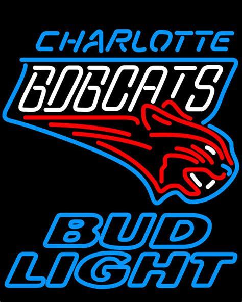 nba bud light cans nba bud light charlotte bobcats neon sign neon