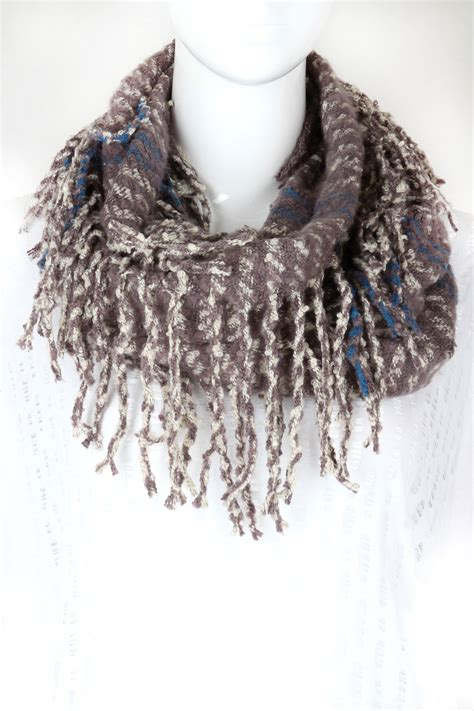 knitting pattern scarf with tassels knitted fringe infinity scarf scarves
