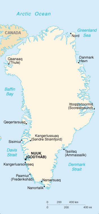 five themes of geography greenland cia map of greenland