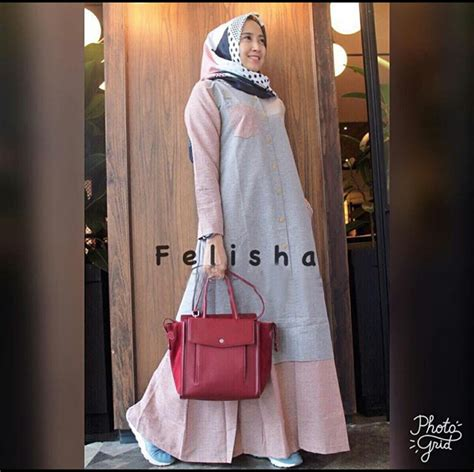 baju gamis remaja felisha maxi busana muslim modern