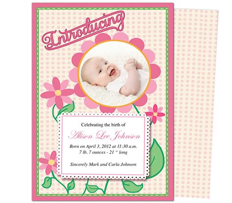 baby announcements card template free birth announcement cards templates 28 images