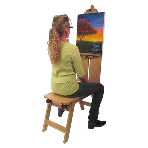 drawing horse bench artist bench easel woodworking projects plans
