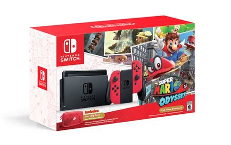 Kaset Nintendo Switch Mario Odyssey mario odyssey special edition nintendo switch bundle new worlds and photo mode shown