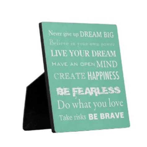 inspirational quotes photo plaques zazzle co uk