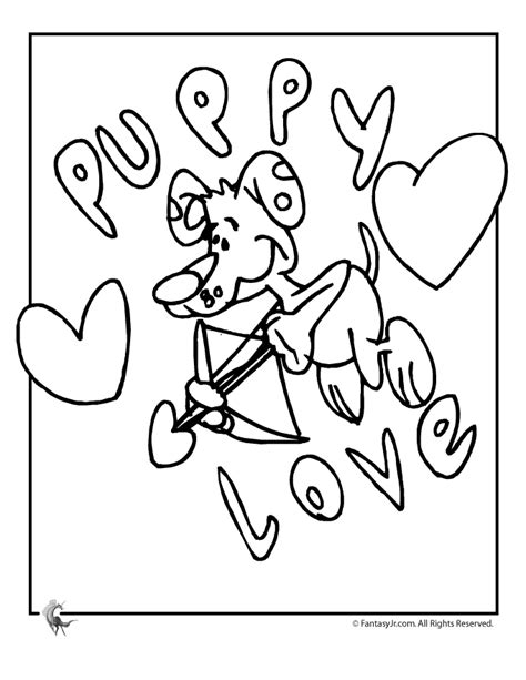 puppy love coloring page woo jr kids activities