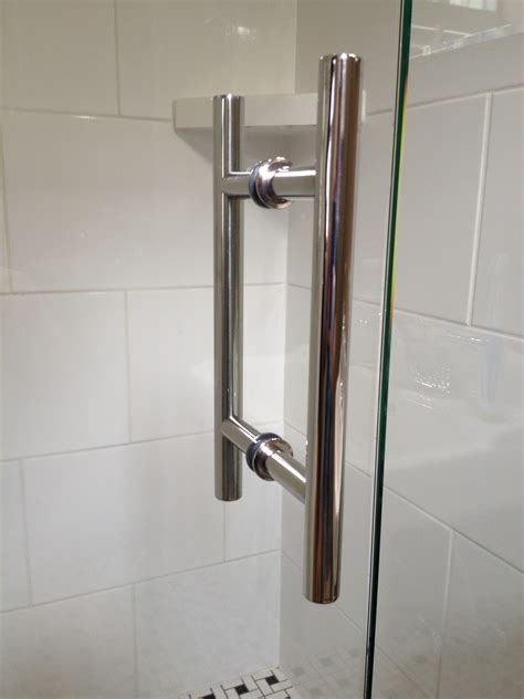 Frameless Shower Door Handle Ladder Handle Chrome Virginia Shower Door Llc Richmond