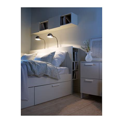 Brimnes Bed Frame With Storage Headboard | brimnes headboard with storage compartment white standard