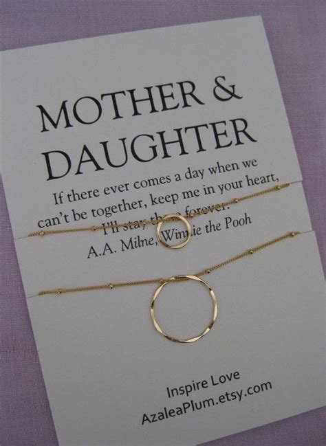 gift ideas for mom birthday mother daughter jewelry 50th birthday gift by