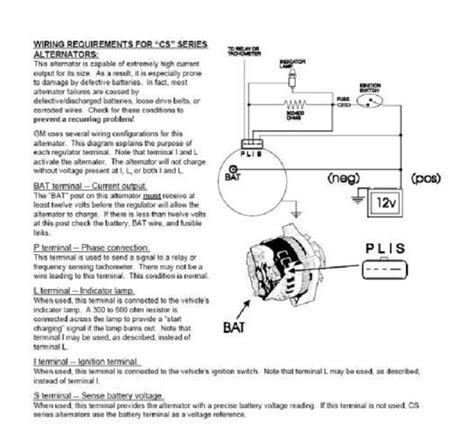 gm cs alternator wiring diagram www jzgreentown
