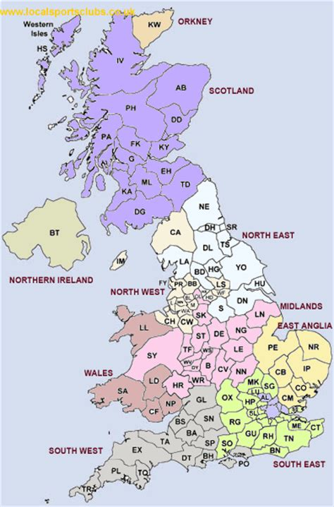 Search Free Uk Printable Maps Of Uk From Postcode 9jasports