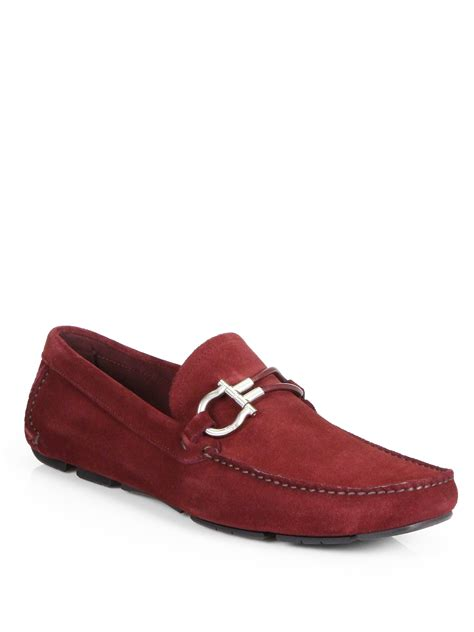 ferragamo loafers ferragamo six bit suede loafers in for mahogany