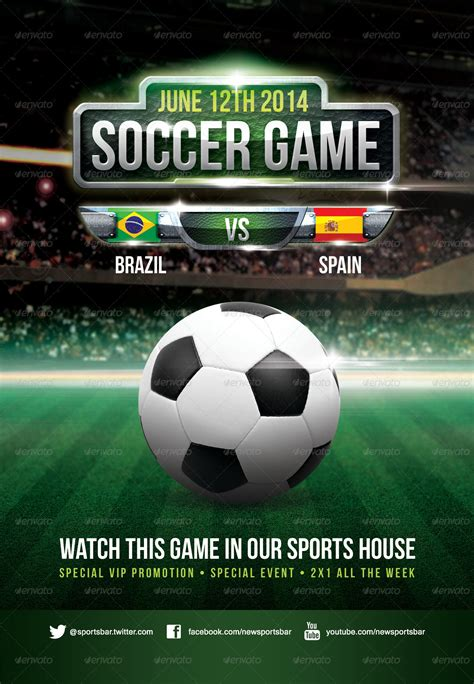 soccer game poster by joedshow graphicriver