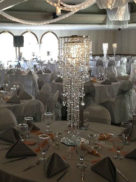 Crystal Wedding Centerpieces   Crystal Chandelier Wedding
