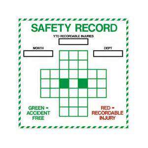 Safety Calendar Template by Safety Record Erase Board Visual Workplace Inc