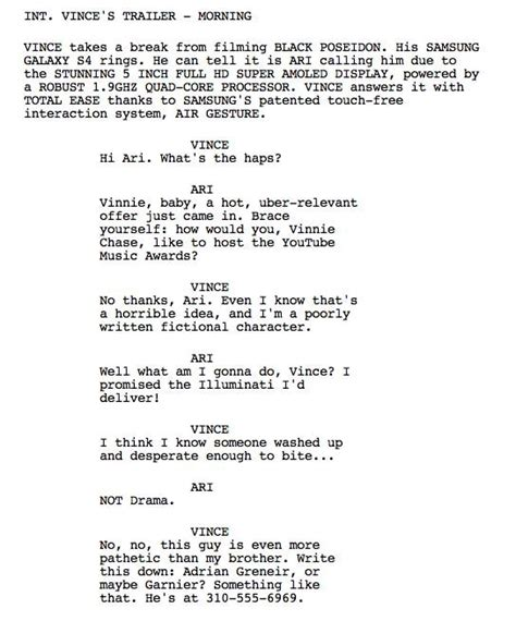 film up com quot entourage quot the tumblr of the movie script the awl