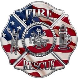 fire rescue maltese cross decal firefighter decals and