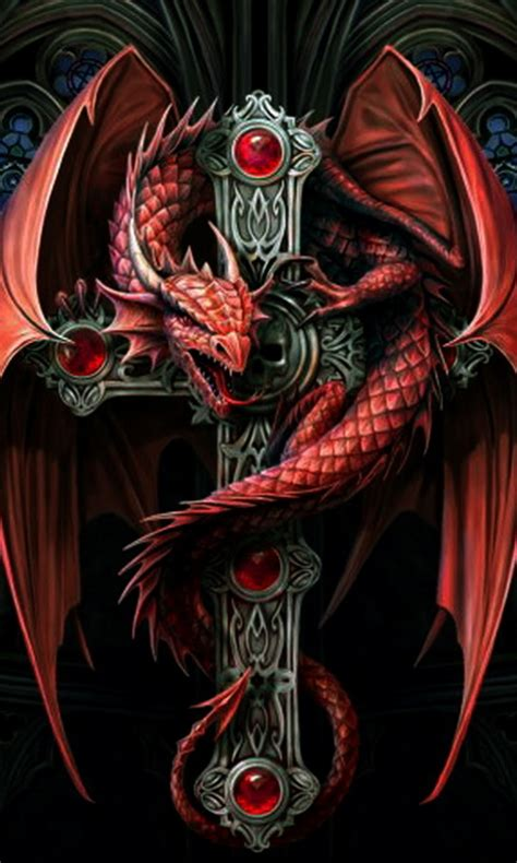 mobile9 tattoo girl wallpaper download dragon cross 480 x 800 wallpapers 2391516