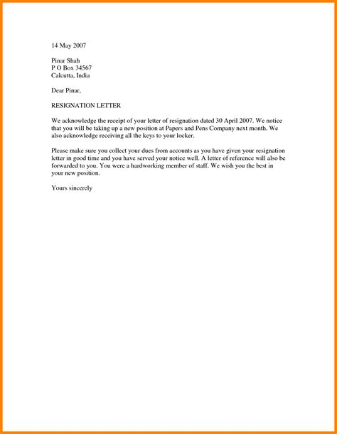 Resignation Letter Sle Simple And Letter Format In Word 45 Images 5 Business Letter Format In Word Expense Report Ideas About