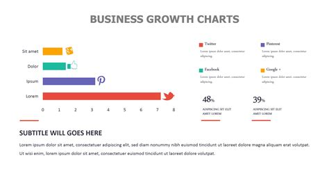 Business Growth Charts Powerslides Business Graph Templates