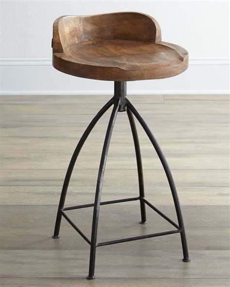 Arteriors Hinkley Counter Stool by Arteriors Wooden Bar Stool Eclectic Bar Stools And