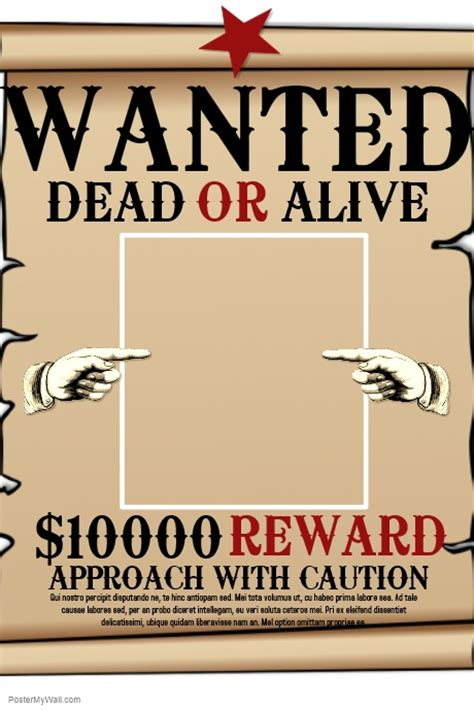 wanted dead or alive poster template free wanted template postermywall
