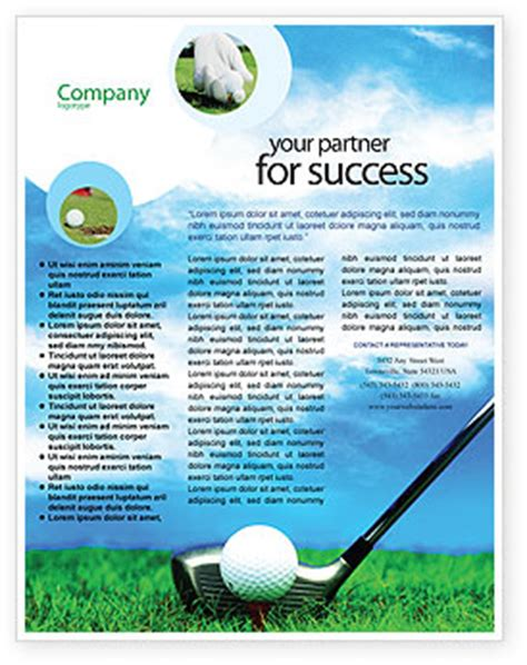 golf flyer template background in microsoft word