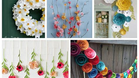 paper flowers spring decor ideas spring decorating ideas