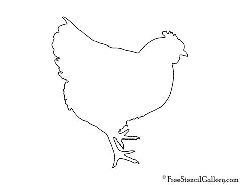 chicken outline www imgkid com the image kid has it