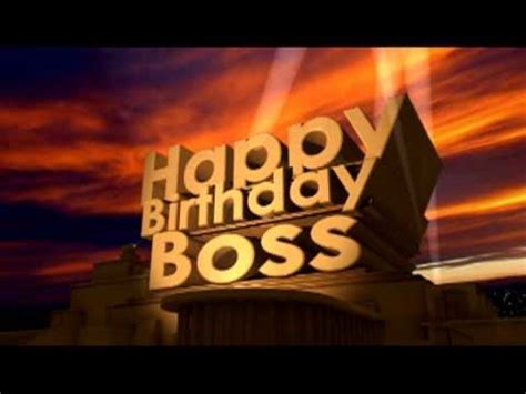 happy birthday boss youtube