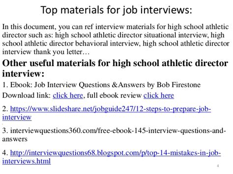 top 10 high school athletic director questions and answers