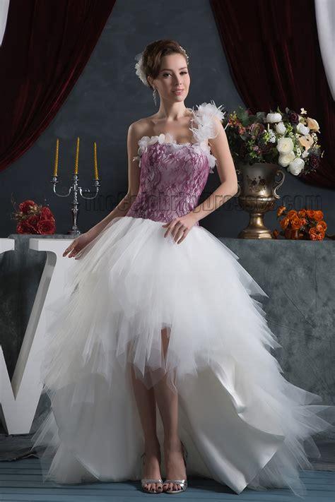 chic high   shoulder informal wedding dresses