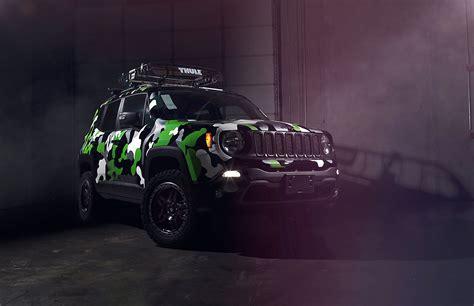 green camo jeep jeep renegade custom camo wrap car wrap city