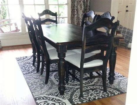 Dining Room Set Painted With Chalk Paint Oak Dining Room Set Makeover Hometalk