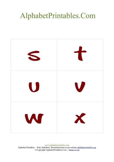 printable lowercase alphabet flashcards with pictures alphabet flash cards pdf template lowercase red alphabet