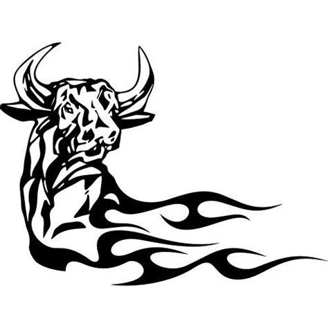 tribal bull head tattoo images designs