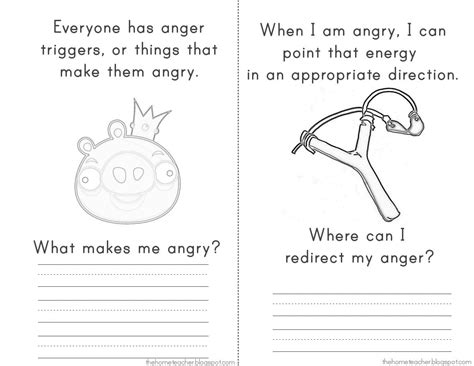 What Is Anger Worksheet by Thehometeacher Angry Birds