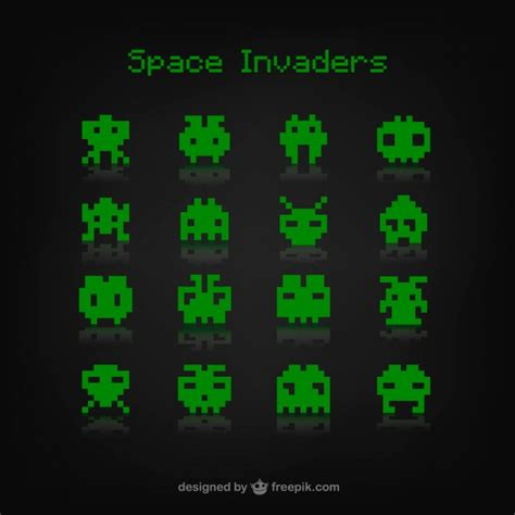 The Space Invaders space invaders vector free