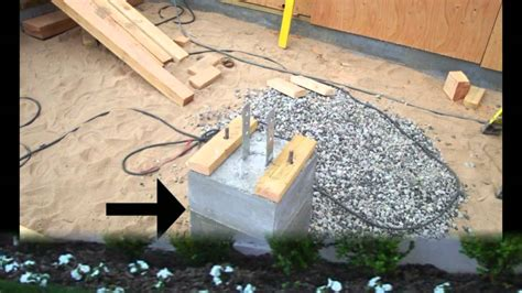 porch footings      place home building