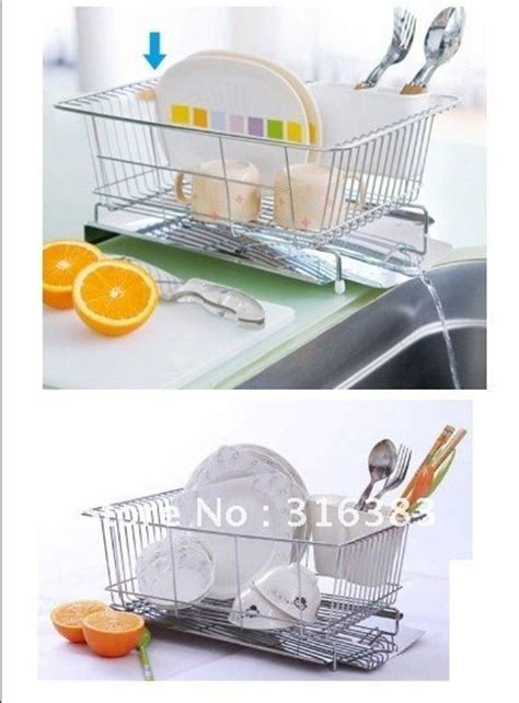 Space Saving Dish Rack by Space Saving Dish Rack Drainer Dryer Tray Sink Shelf Storage Bowel And Scoop Shelives On