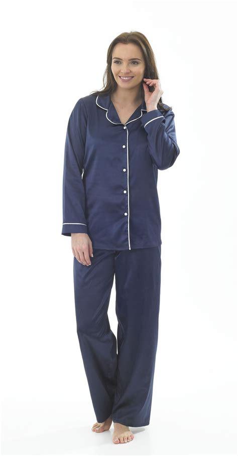 Piyama Navy s satin pyjamas navy white designer pyjamas size